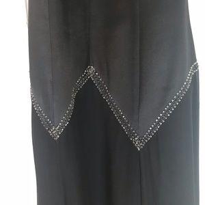 BCBGMaxAzria Dresses - BCBG BLACK HALTER GOWN
